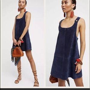 FREE PEOPLE Leather suede Michalla mini dress S/M
